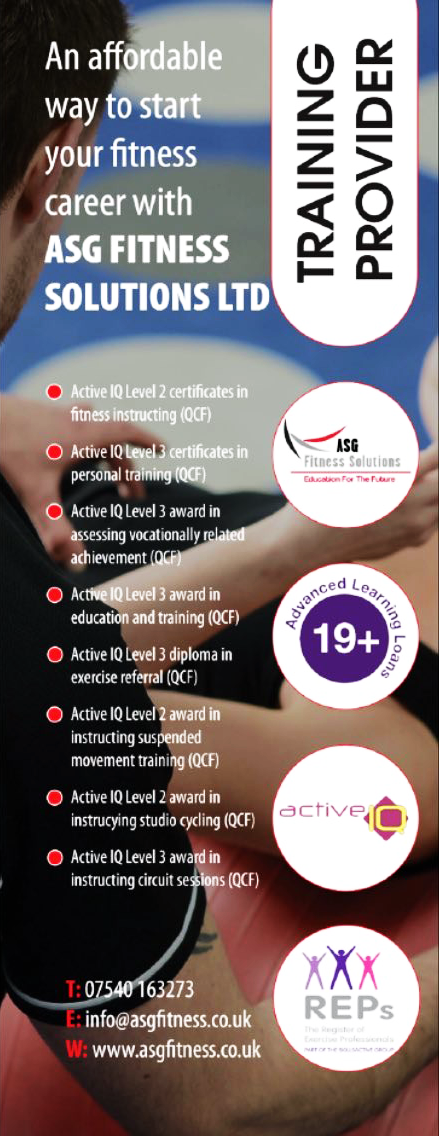 Active Iq Level 3 Certificate In Personal Training Asg Fitness